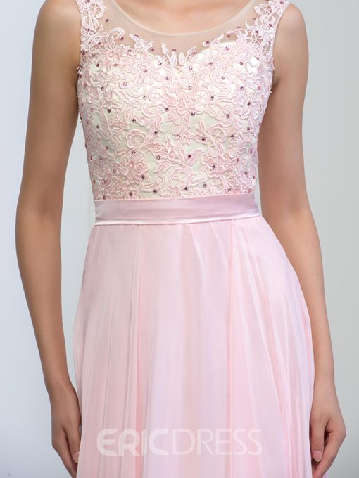 Ericdress Scoop Appliques Sequins Long Prom Dress