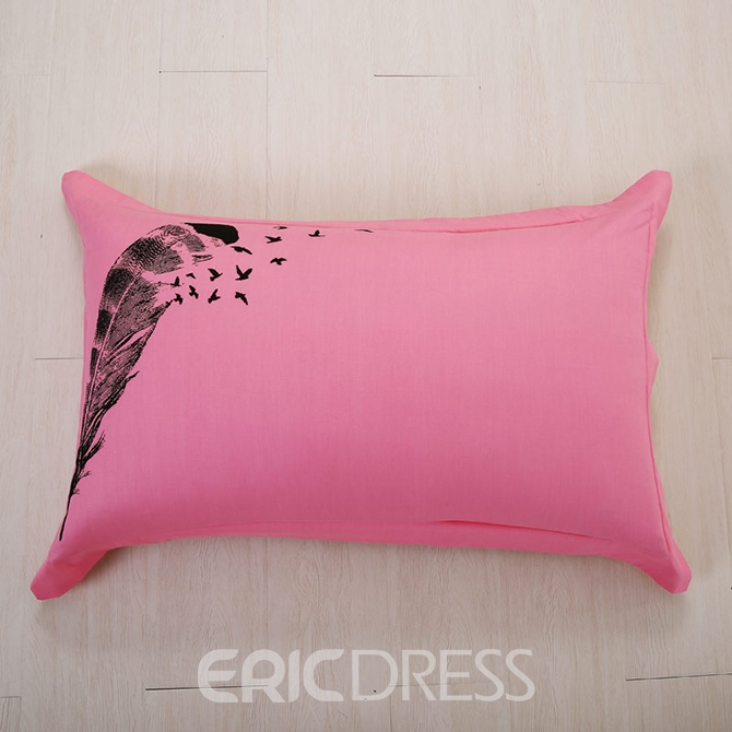 ericdress pink feather print kids bedding sets 11465918