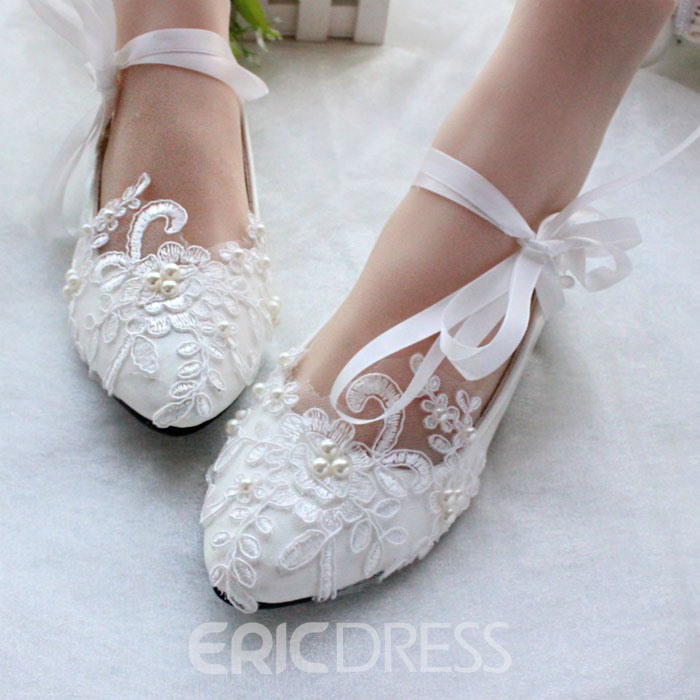 Ericdress Lace Flat Wedding Shoes 11460172 - Ericdress.com