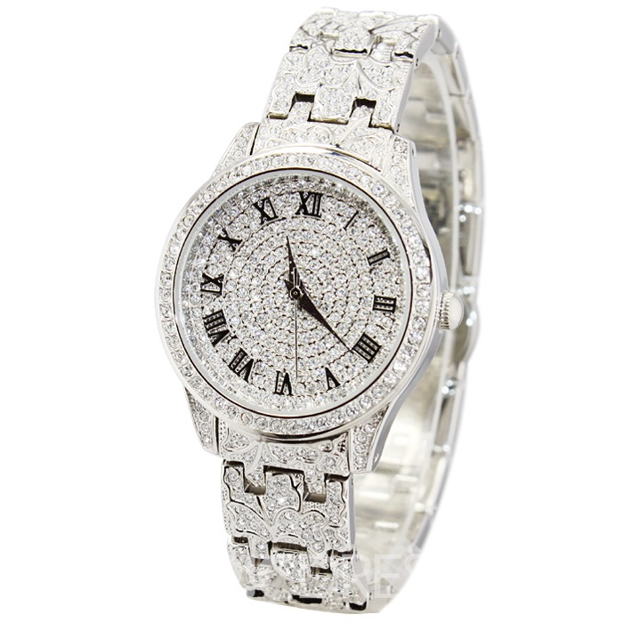 Ericdress Hardlex Quartz Dimante Women Watch