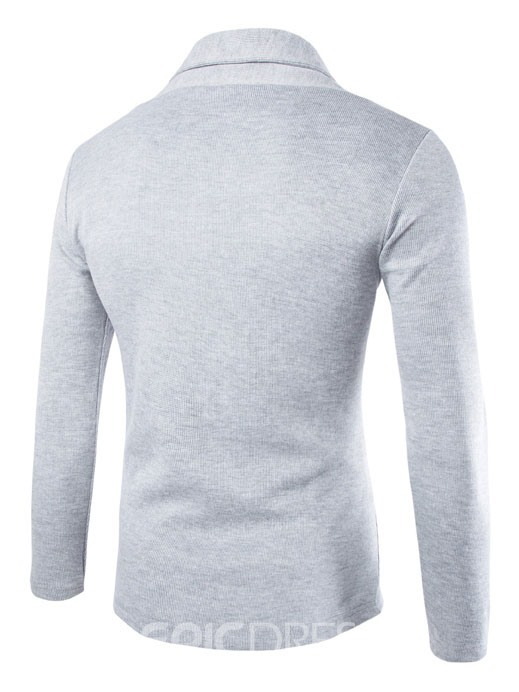 Ericdress Plain Cardigan Men's Sweater