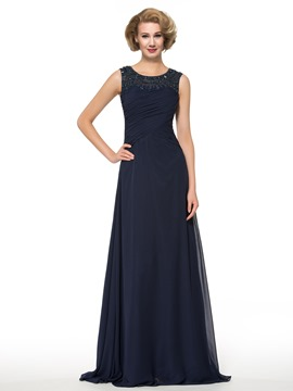 Ericdress Elegant Beading A Line Chiffon Mother of the Bride Dress