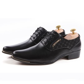 Ericdress Patchwork Square Heel Men's Oxfords