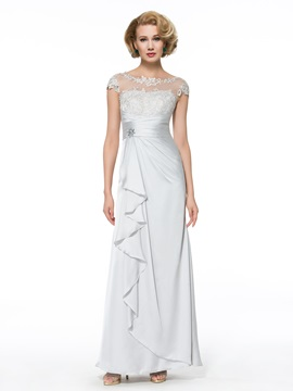 Ericdress Elegant Bateau Cap Sleeves Sheath Mother of the Bride Dress
