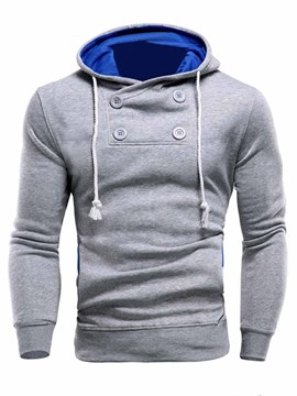 Ericdress Hooded Thicken Pullover Men's Hoodie