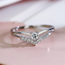 Trendy Concise S925 Silver Ring