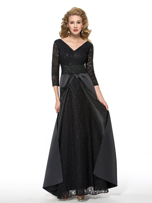 Ericdress 3/4 Length Sleeves Beading Lace Mother of the Bride Dress