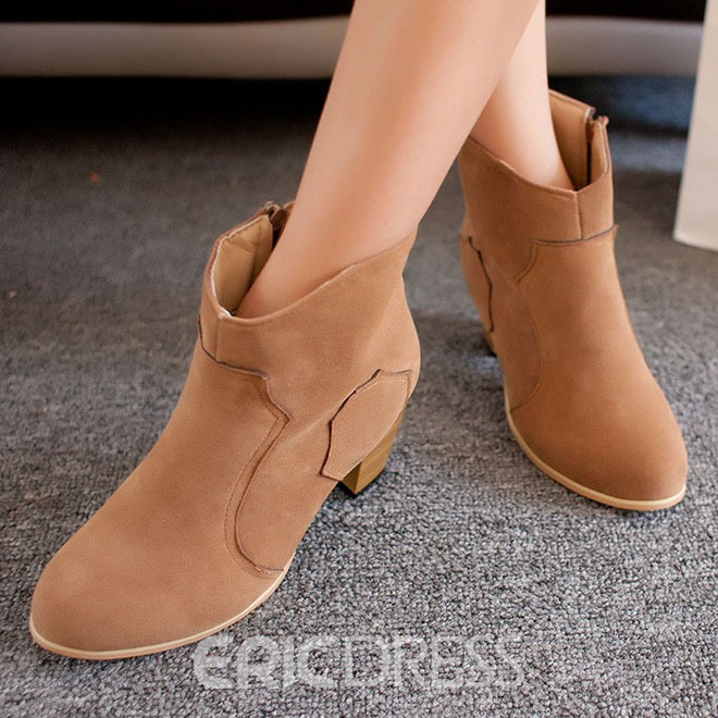 Ericdress European Suede Chunky Heel Ankle Boots