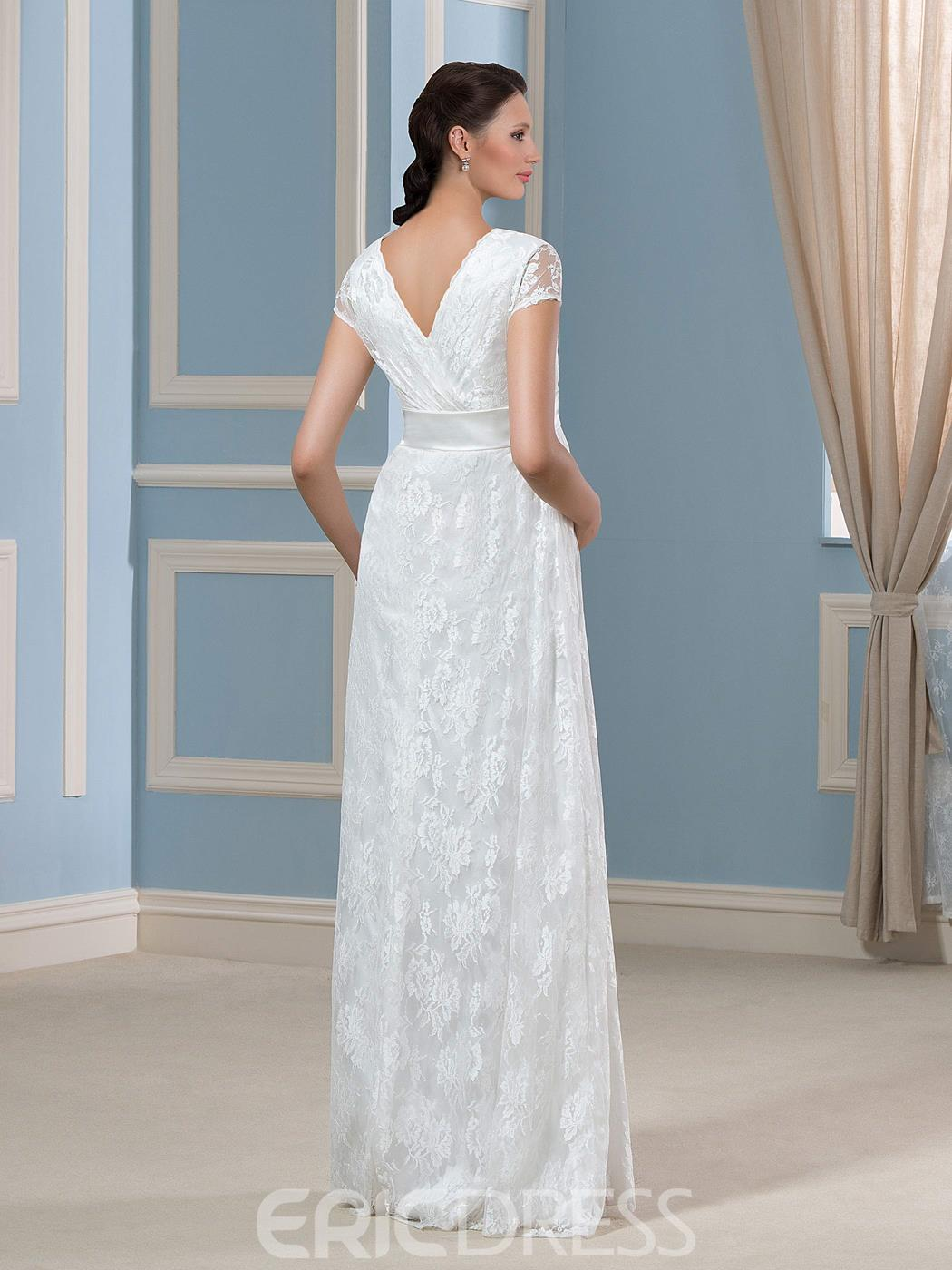 Comfortable Lace Maternity Wedding Dresses Pictures Inspiration ...