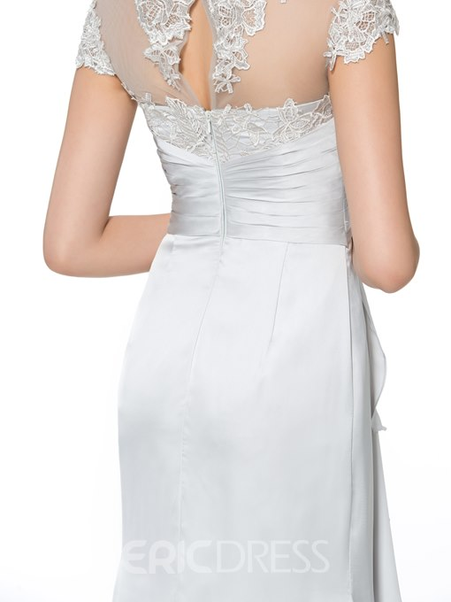 Ericdress Appliques Cap Sleeves Sheath Mother of the Bride Dress