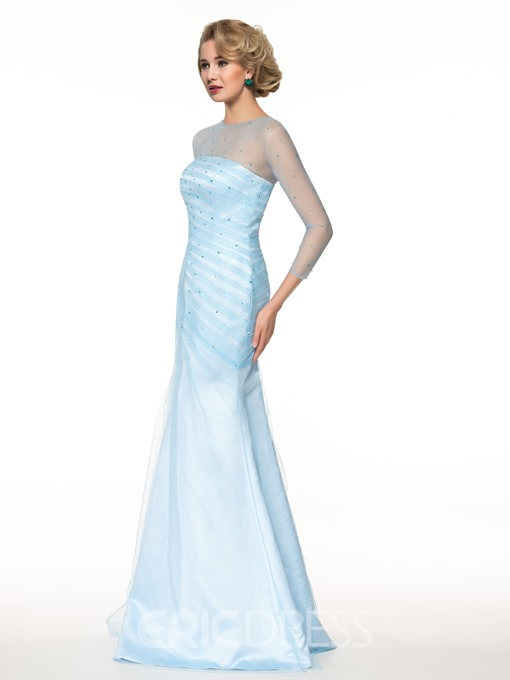 Ericdress 3/4 Length Sleeves Beading Mermaid Mother of the Bride Dress