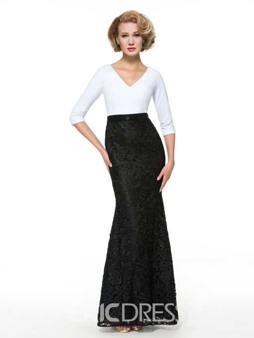 Ericdress Half Sleeves Mermaid Lace Mother of the Bride Dress