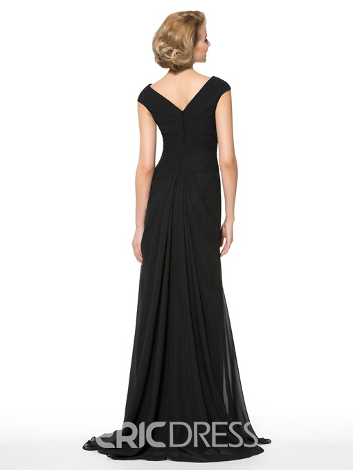 Ericdress Charming V Neck A Line Mother of the Bride Dress