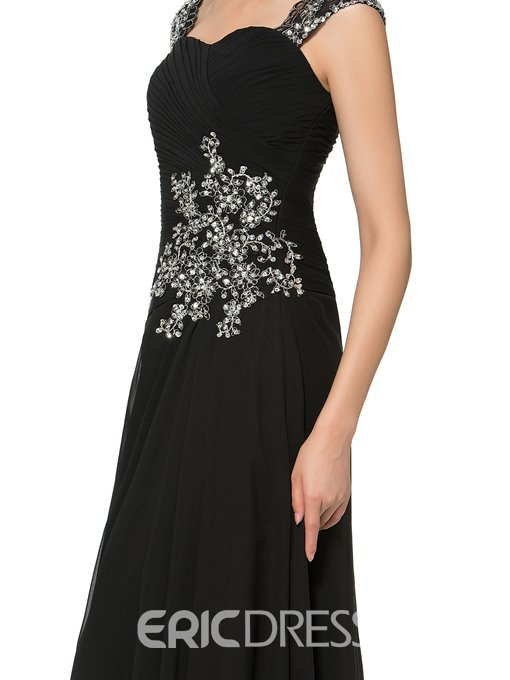 Ericdress Beautiful Straps Appliques Beading Long Mother of the Bride Dress
