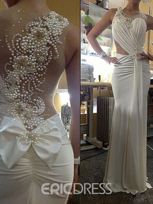 Ericdress Amazing Jewel Pearls Wedding Dress