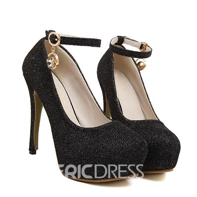 Ericdress Glittering Ankle Strap Pumps