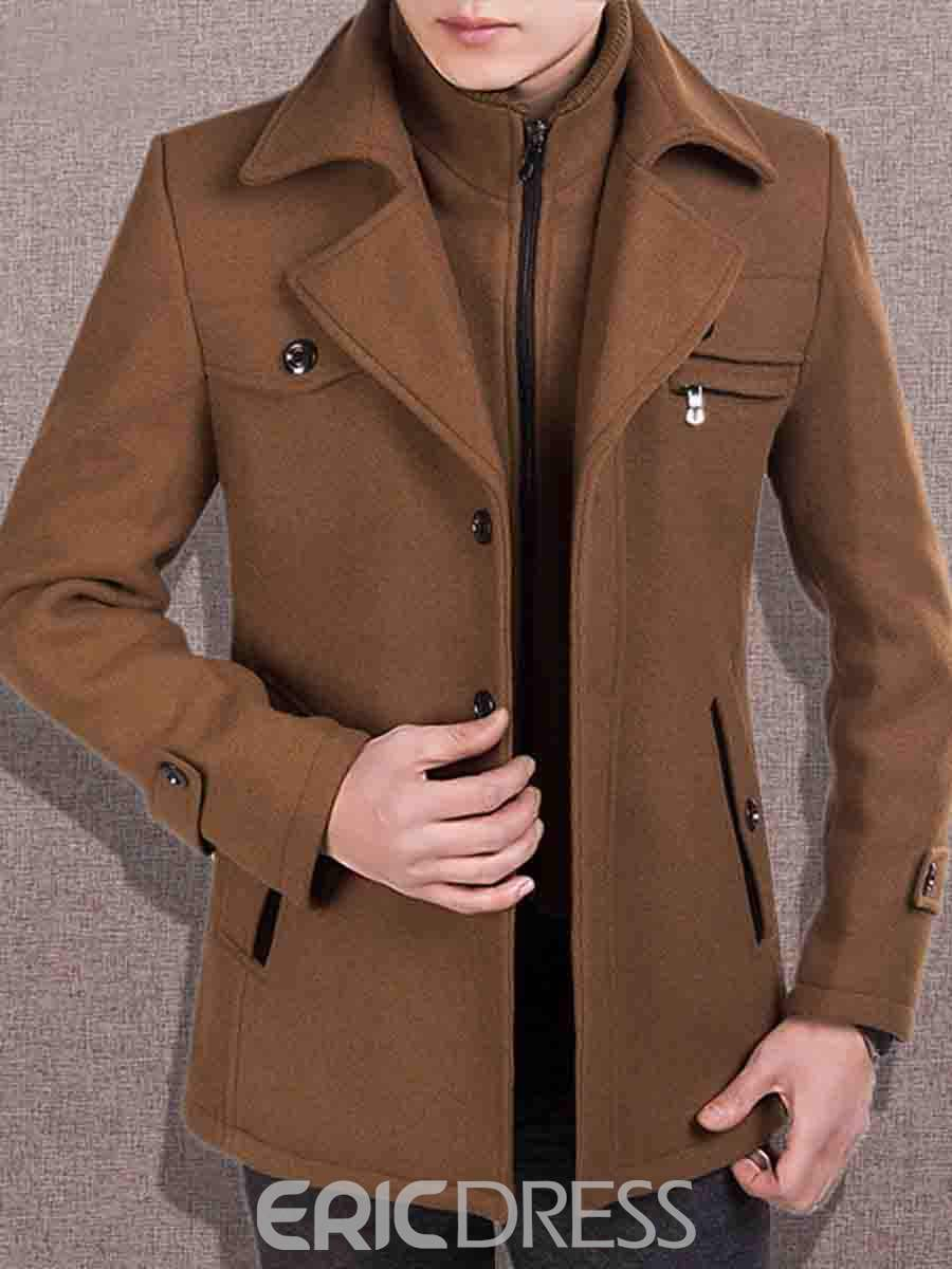 Men's Wool Coats, Mens Wool Winter Coats on Sale-Ericdress.com ...