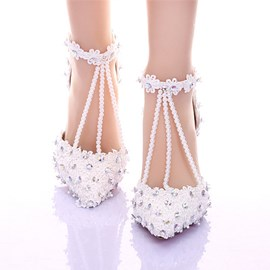Ericdress Gorgeous Ankle Strap Pointed-toe Wedding Shoes