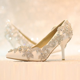 Ericdress Trendy Rhinestone Pointed-Toe Wedding Shoes