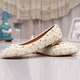 Ericdress Delicate White Pearl Wedding Shoes