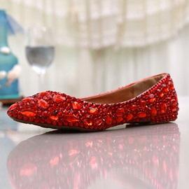 Ericdress Charming Red Flat Wedding Shoes