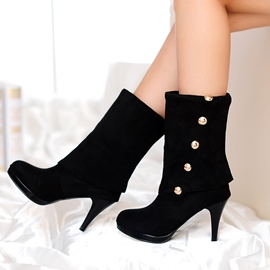Ericdress Rivets Decoration Mid-calf High Heel Boots