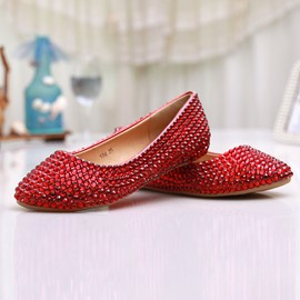 Ericdress Top Quality Red Flat Wedding Shoes