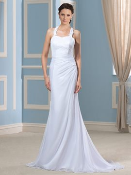 Ericdress Charming Halter Backless Wedding Dress
