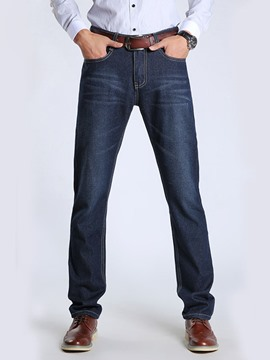 Ericdress Premium Straight Stretch Men's Denim Pants