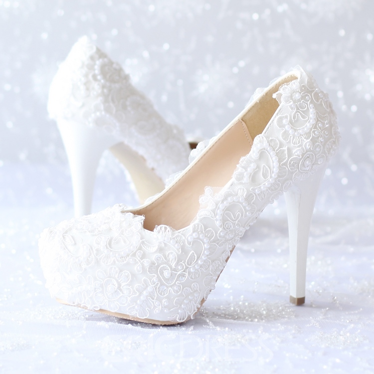 Ericdress Dramatic Lace Flower Wedding Shoes