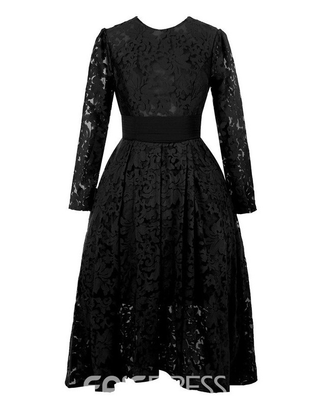 Ericdress Charming Jewel Long Sleeves Lace Mother of the Bride Dress