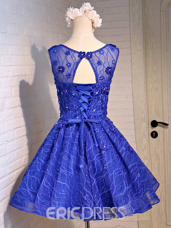 Ericdress A-Line Round Neck Appliques Short Homecoming Dress