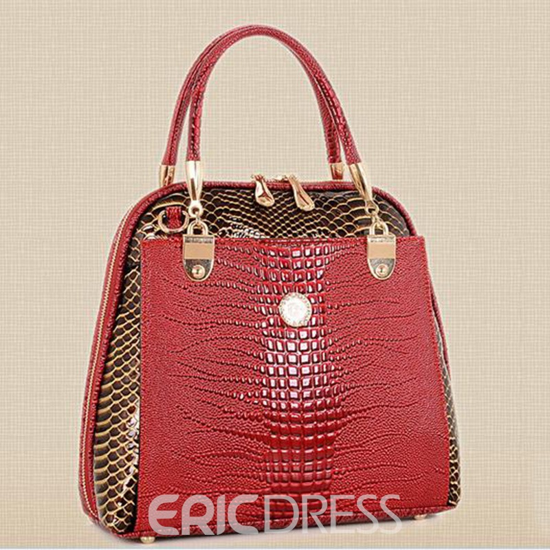 Ericdress Temperament Serpentine Embossed Handbag