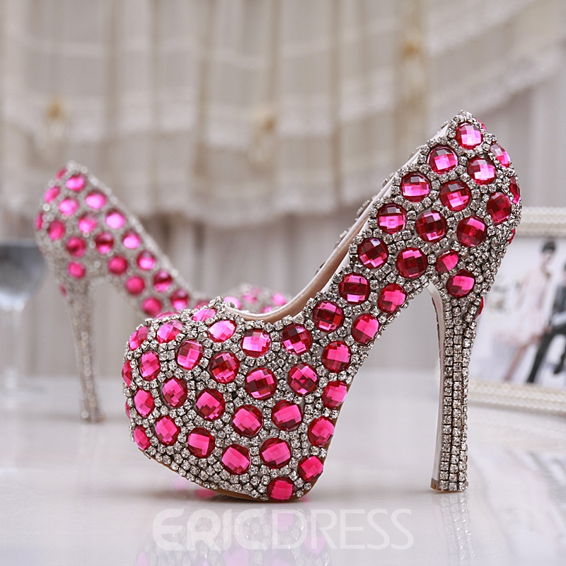 Ericdress Brilliant Diamond Stiletto Heels Wedding Shoes