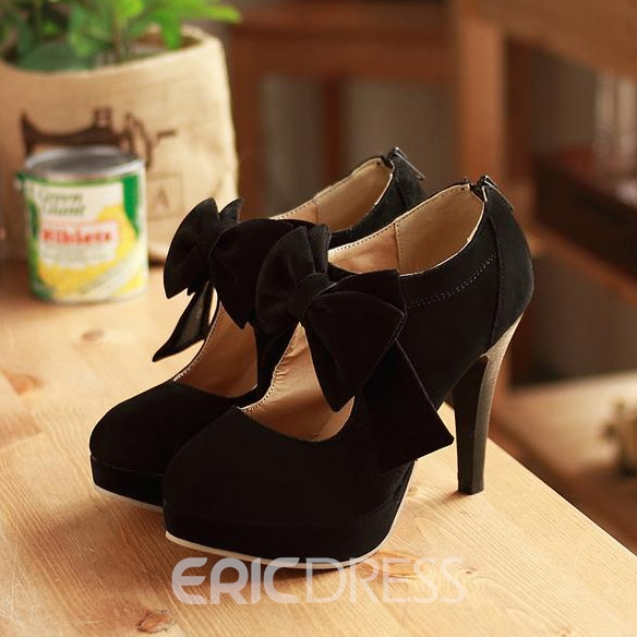 Ericdress Popular Bowtie Decoration High Heel Boots