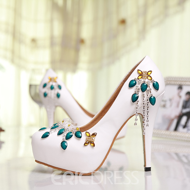 Ericdress Classic Unique White Stiletto Heels Wedding Shoes