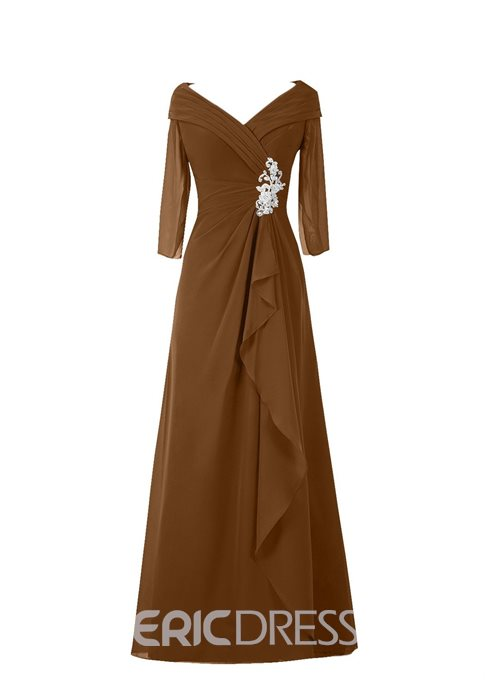 Ericdress Appliques 3/4 Length Sleeves Mother of the Bride Dress