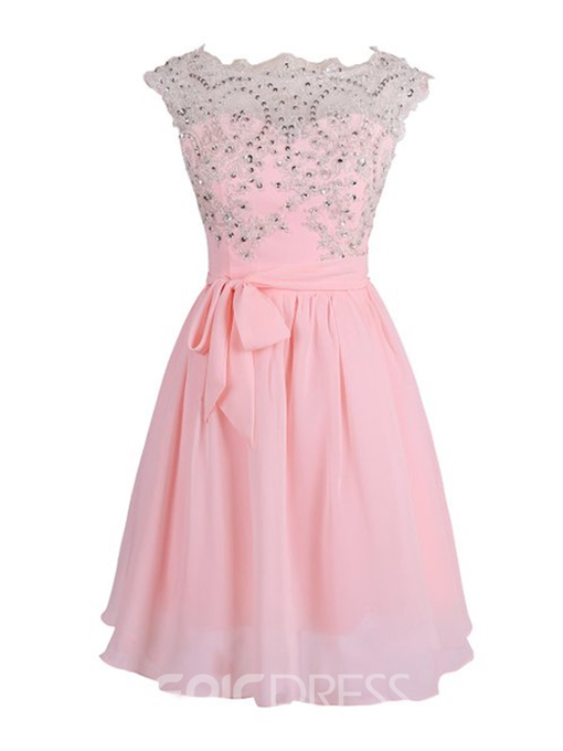 Ericdress Modern Appliques Sequins Ribbons Homecoming Dress