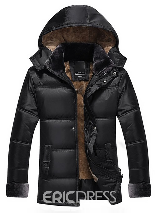 Ericdress Flocking Thicken Warm Winter Style Men's Coat