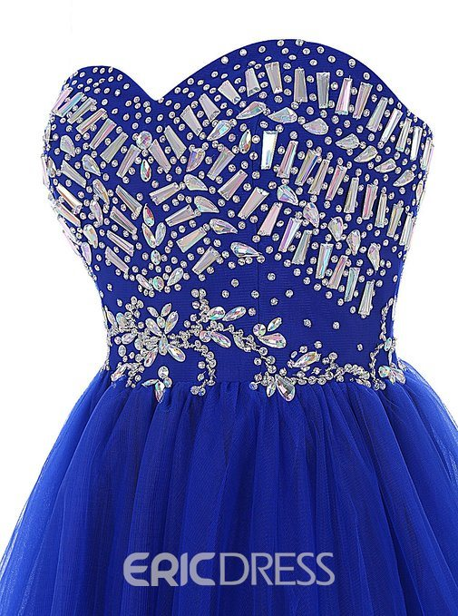 Ericdress A-Line Sweetheart Beading Ruched Homecoming Dress