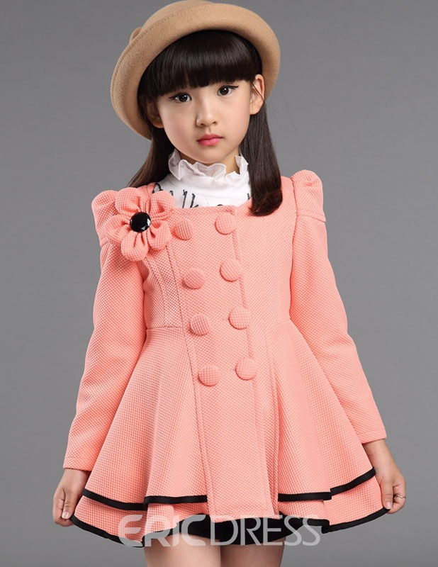 Ericdress Sweet Mid-Length Girls Coat
