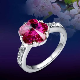 Cherry Blossom Crystal Ring