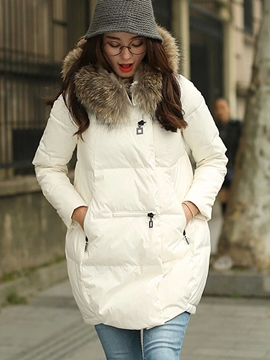 Ericdress Warm Plus Size Cotton Padded Coat