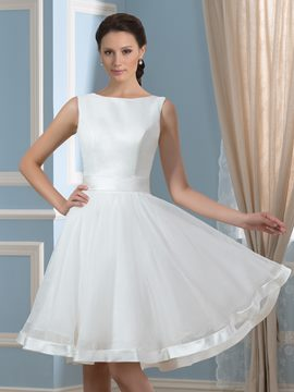 Ericdress Knee Length Bowknot Beach Reception Wedding Dress