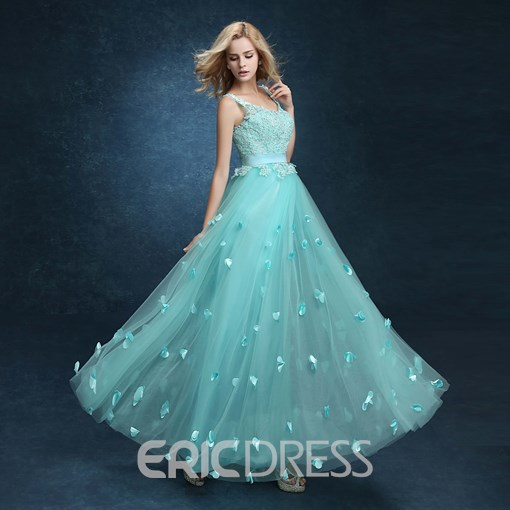 Ericdress Appliques Beading Lace-Up Evening Dress
