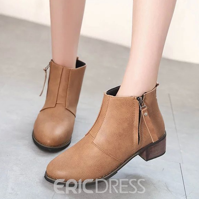 Ericdress Korean Martin Boots with Side Zipper