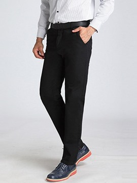 Ericdress Solid Straight Multi-Color Gentleman Wear Men's Pants
