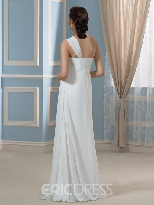 Ericdress Casual One Shoulder Empire A Line Maternity Wedding Dress
