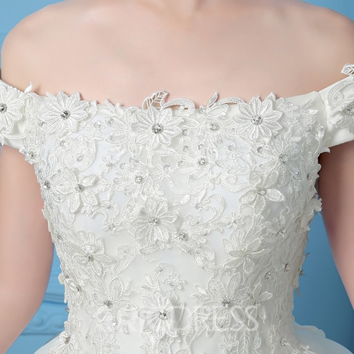 Ericdress Lace Crochet Beading Ball Homecoming Dress With Lace-Up Back