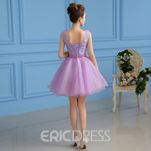 Ericdress A-Line Scoop Appliques Short Homecoming Dress With Beadings